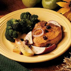 Apple-Topped Chops