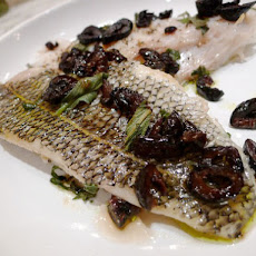 Roasted Blackfish with Olives and Sage
