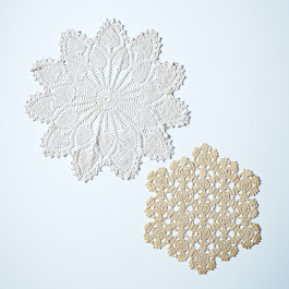 Vintage Crocheted Doilies, Set of Two