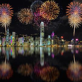 HK14 by Jovi Mirabueno - City,  Street & Park  Vistas