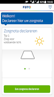 Screenshot of FBTO Zorgdeclaratie app