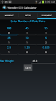 Screenshot of Wendler 531 Calculator Lite