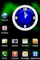Screenshot of Blue Clock Widget