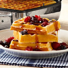 Gluten-Free Waffles with Quick Four-Berry Preserves