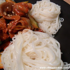 Golbaengi Muchim (Korean Spicy Sea Snail Mix w Noodles)