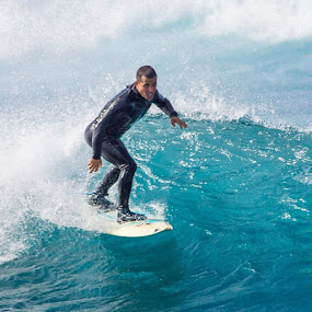# wetsuit# by Guy Henderson - Sports & Fitness Surfing ( surf, surfing, lasanta, lanzarote, surfcanary, swell, surfschool, riderclothing, shrickapp, bigwave, stormrider, canaryislands, surfer, surfboard,  )