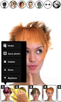 Screenshot of Magic Mirror Demo, Hair styler