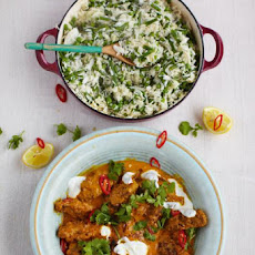 Beef Kofta Curry With Fluffy Rice, Beans & Peas