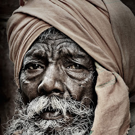 Wrinkle of wisdom by Arnab Bhattacharyya - People Portraits of Men