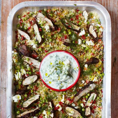 Gorgeous Greek Chicken With Herby Vegetable Couscous & Tzatziki