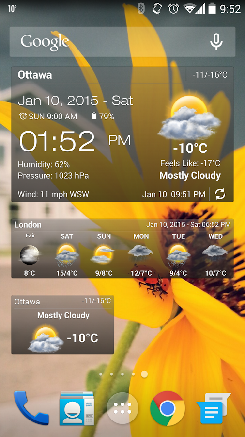 Weather & Clock Widget for Android Ad Free Screenshot 0
