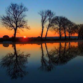 Sunrise on lake Lajmir. Baranja, Croatia by Željko Salai - Novices Only Landscapes