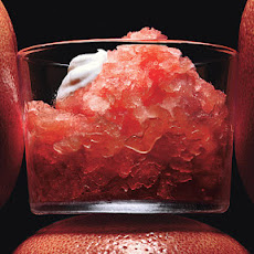 Grapefruit-Campari Granita with Vanilla Whipped Cream