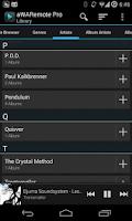Screenshot of aWARemote Pro for Winamp®
