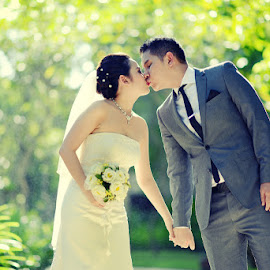 kiss by Badruz Zaman - Wedding Bride & Groom ( Wedding, Weddings, Marriage )