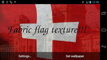 Screenshot of 3D Swiss Flag Live Wallpaper +
