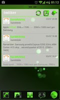 Screenshot of GOWidget Green ICS Light Free