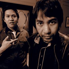 Duo in Sepia by Juan Carlo Cruz - People Portraits of Men (  )