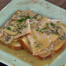 Open Faced Roast Turkey Sandwiches with Mushroom Gravy
