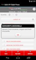 Screenshot of Sal's NY Style Pizza