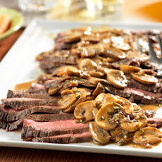 Flank Steak with Mushroom Sauce