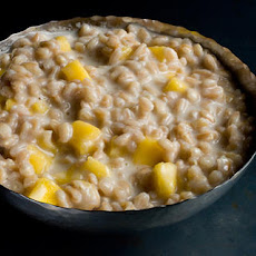 Coconut Farro Porridge with Mango