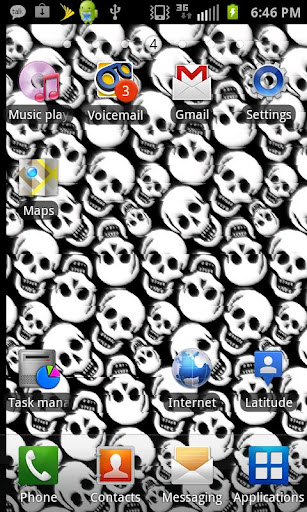 Flying Skulls Live Wallpaper
