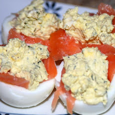 Smoked Salmon Stuffed Eggs