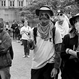 Desperadoes by Andrew Rock - News & Events Politics ( film, minolta x-700, australia, protest, kodak tri-x 400,  )