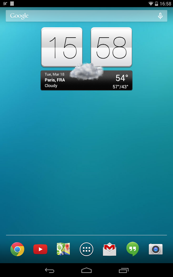 Sense V2 Flip Clock & Weather Screenshot 12