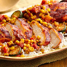 Southwest Chicken with Honey Roasted Corn Salsa