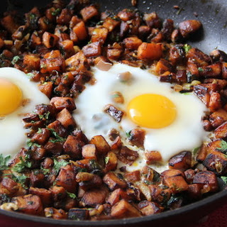 Sweet Potato and Egg Breakfast Hash