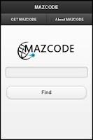 Screenshot of MAZCODE