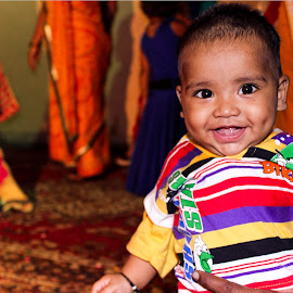 Poser by Devang Shrimali - Babies & Children Babies ( child, india, cute, smile, marriage, baby boy )