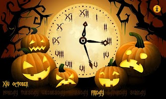 Screenshot of Night Stand Clock: Halloween
