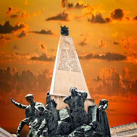 War Heroes by Lino Chetcuti - Buildings & Architecture Statues & Monuments