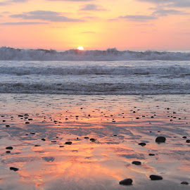Del Mar Beach Sunset by Erin Happenny - Landscapes Sunsets & Sunrises ( sand, del mar, sky, sunset, california, pacific ocean, sea, ocean, beach )