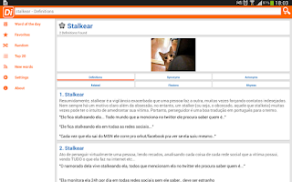 Screenshot of Dicionário inFormal