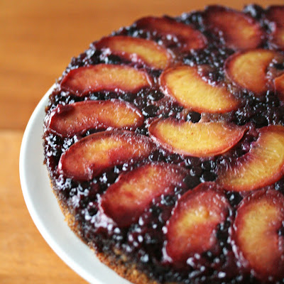 Peach-Blueberry Upside Down Cake