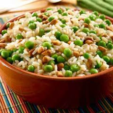 Rice Pilaf With Peas & Pine Nuts