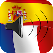 Spanish to French talking phrasebook translator