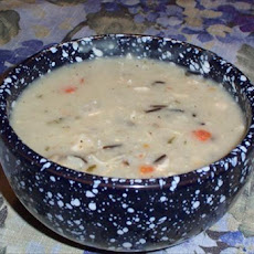 Creamy Wild Rice and Mushroom Soup in a Jar
