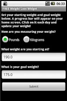 Screenshot of Simple Weight Loss Resolution