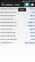 Screenshot of HealthMax - Health Calculator