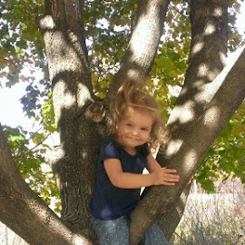 Audrey in tree... by Robin Padgett - Babies & Children Toddlers