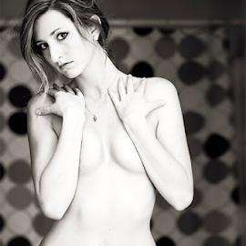 by Joe Bowers - Nudes & Boudoir Boudoir ( lace, nipples, lingerie, nude, panties, brunette )