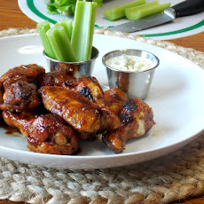 Spicy Chicken Wings and Blue Cheese Sauce