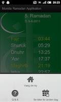 Screenshot of DIT Ramadan Tider og Info