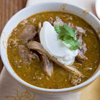 Make Chili Verde Con Carnitas