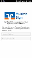 Screenshot of Multivia Sign